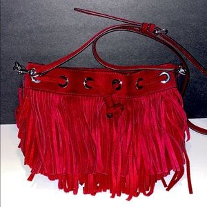 Rebecca Minkoff Boho Leather Fringe Crossbody Bag